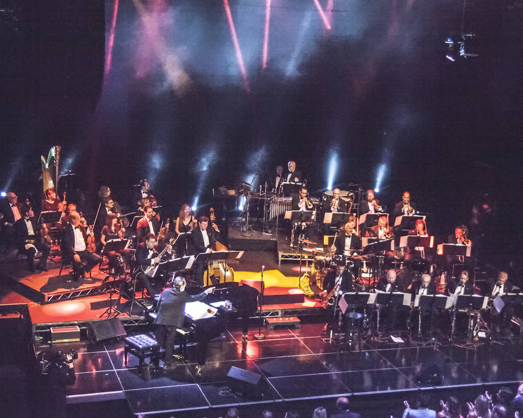 """Bob Anderson and his orchestra performs """"Frank: The Man, The Music"""" at Avalon Hollywood in Los Angeles on Wednesday, July 19, 2017 (Ed Foster)"""