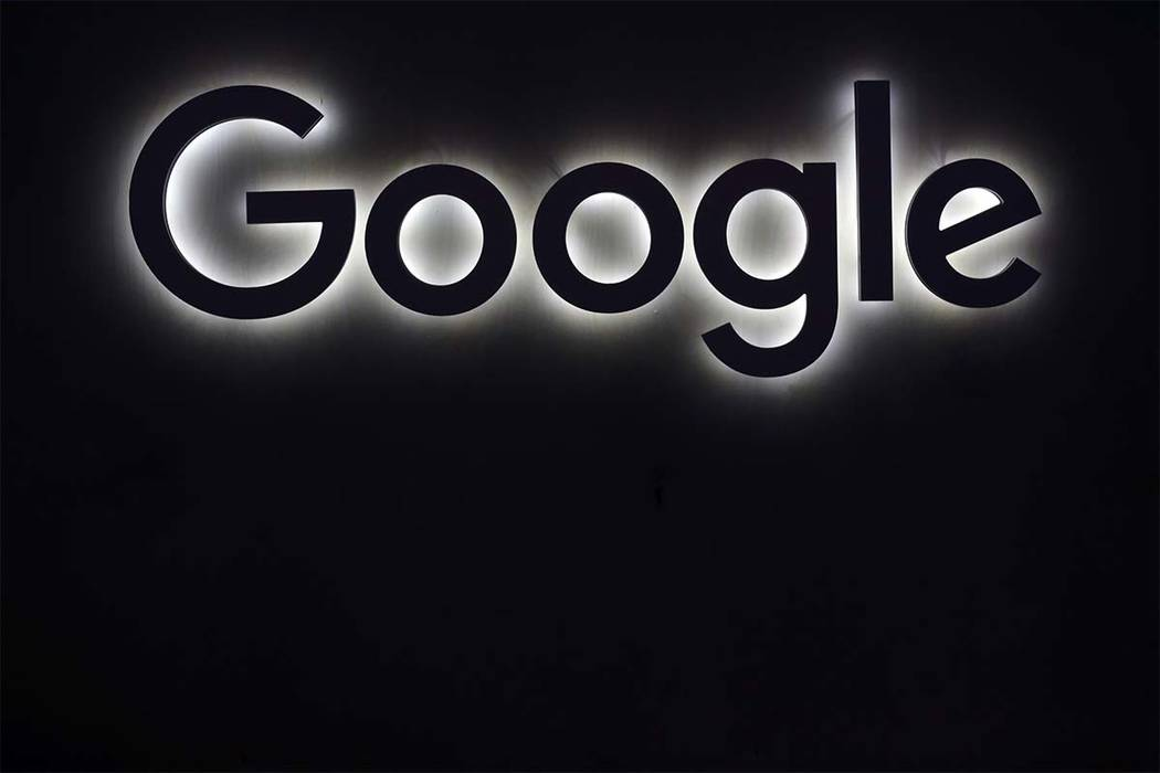 The Google logo is seen at the Vivatech, a gadgets show in Paris, France, Friday, June 16, 2017. (Thibault Camus/AP)