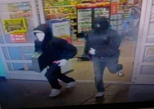 Las Vegas police are looking for suspects in an armed robbery at a Walmart.