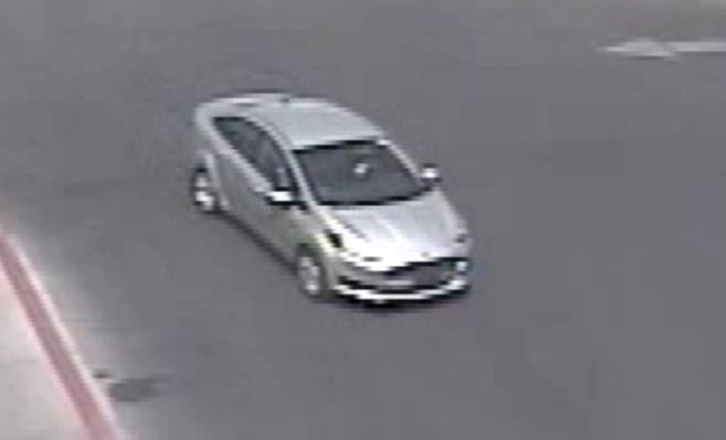 Las Vegas police provided this image of a suspect car in an armed robbery at a Walmart.