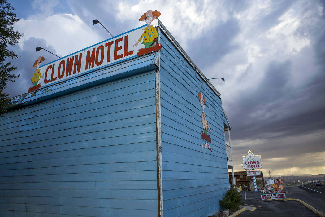 The Clown Motel on Main Street in Tonopah on Tuesday, July 25, 2017. The Clown is currently for sale with the condition that the new owner must keep the clown theme.  Patrick Connolly Las Vegas Re ...