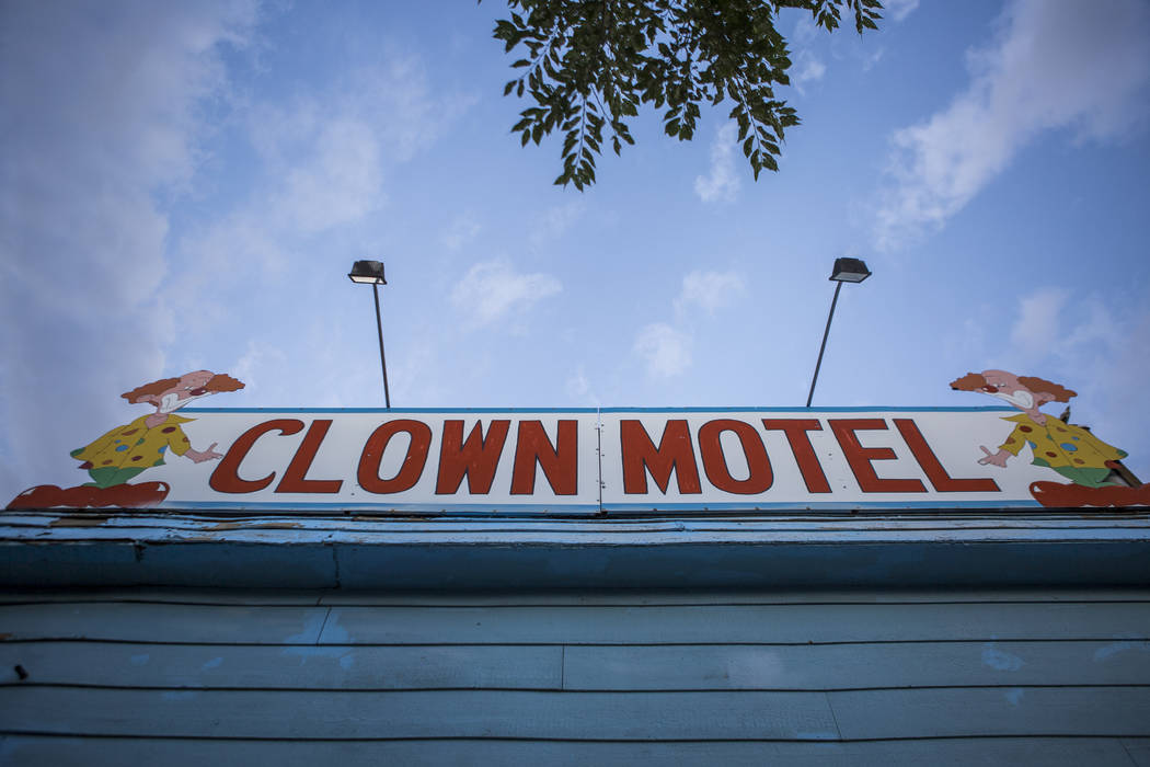 The Clown Motel in Tonopah on Tuesday, July 25, 2017. The Clown is currently for sale with the condition that the new owner must keep the clown theme.  Patrick Connolly Las Vegas Review-Journal @P ...