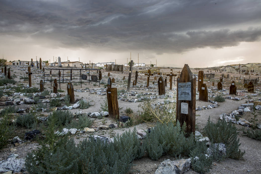 The Tonopah Cemetery, known for paranormal activity, next to the Clown Motel in Tonopah on Tuesday, July 25, 2017.  Patrick Connolly Las Vegas Review-Journal @PConnPie