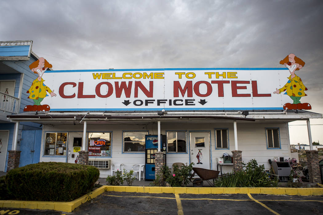 The office of the Clown Motel in Tonopah on Tuesday, July 25, 2017. The Clown is currently for sale with the condition that the new owner must keep the clown theme.  Patrick Connolly Las Vegas Rev ...