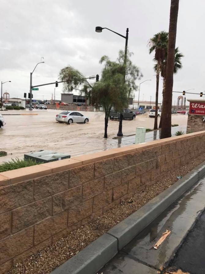 Farm Road and Durango Drive in northwest Las Vegas, Tuesday, July 25,2017. (Ashley Gonzales/Facebook)