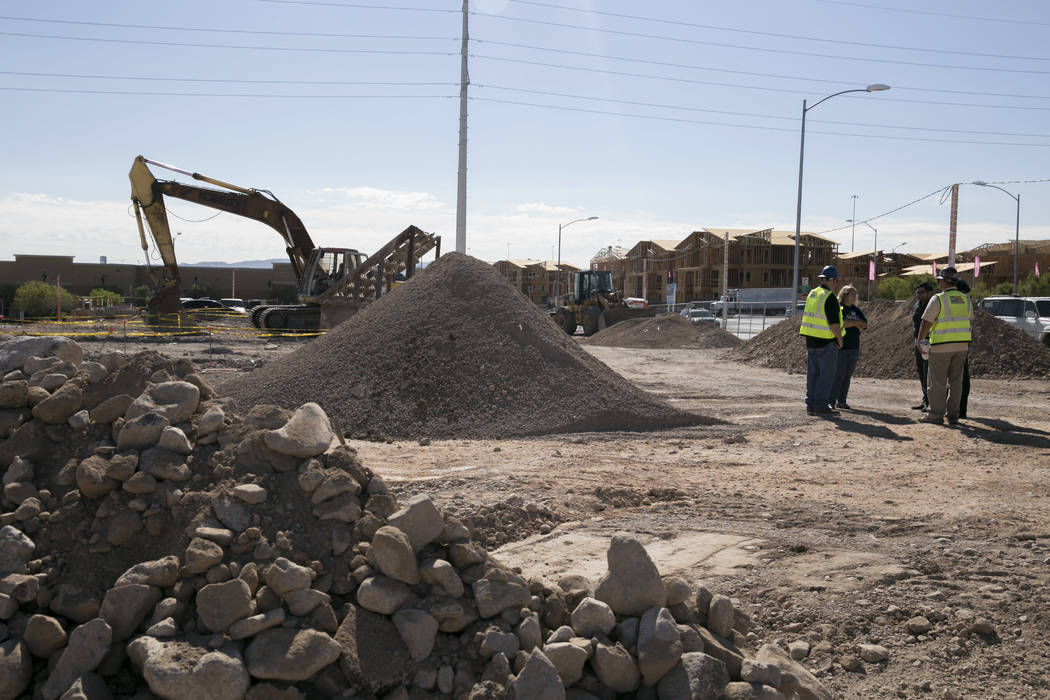 The construction site at the intersection Gibson Road and Wigwam Parkway in Henderson will be an Arco gas station and an AM-PM mini-mart. Nevada State Bank issued the construction loan. Gabriella  ...