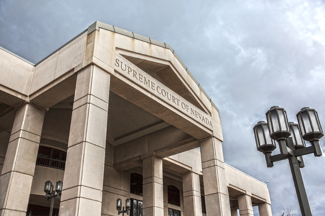 The exterior of the Supreme Court of Nevada in Carson City. (Benjamin Hager/Las Vegas Review-Journal) @benjaminhphoto