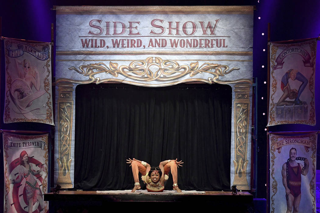 """Senayet """"The Elastic Dislocationist"""" Assefa Amara performs during the opening night of """"Circus 1903"""" at Paris Las Vegas.  Ethan Miller Getty Images"""