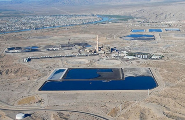The former home to the Mohave Generating Station, a coal-fired power plant. (Review-Journal file photo)