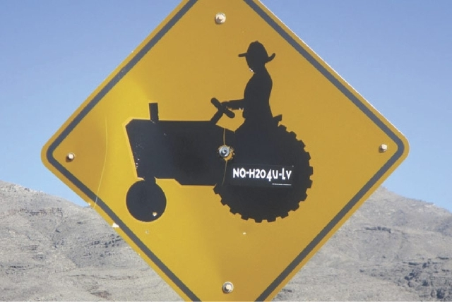 A bumper sticker stuck to a road sign near the Lincoln County town of Hiko captures the mood of some rural residents when it comes to the Southern Nevada Water Authority's plans to siphon water fr ...