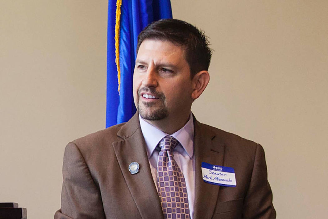 Mark Manendo, a Democrat from Las Vegas, resigned his Senate seat on July 18, five days after the investigation concluded. (Las Vegas Review Journal file)