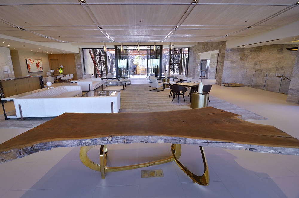 The Ascaya clubhouse features a modern decor. (Bill Hughes Real Estate Millions)