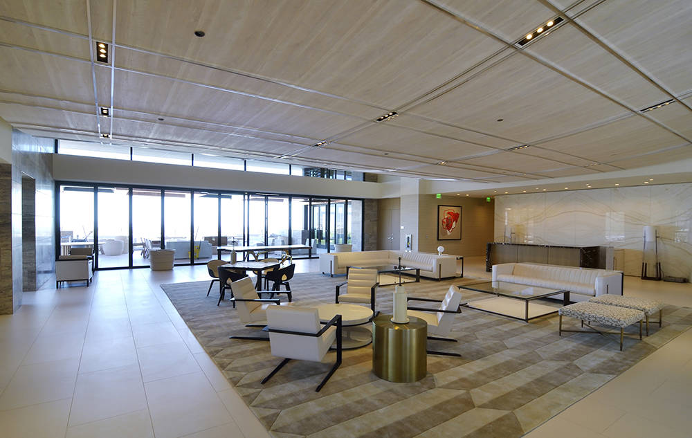 Interior designer Todd-Avery Lenahan of international design firm Tal Studio, gave the Ascaya clubhouse a fresh, modern look. (Bill Hughes Real Estate Millions)