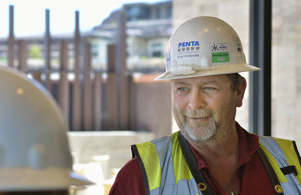 Don Farnham, project superintendent for Penta Building Group, is shown during a tour of the new Ascaya clubhouse June 27. (Bill Hughes Real Estate Millions)