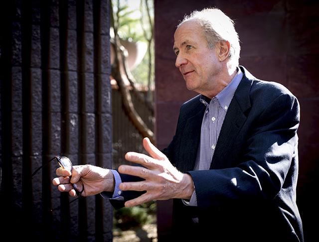 John Sather, a principal at Scottsdale, Arizona-based Swaback Partners and lead architect on Ascaya, explains his vision of the Henderson luxury community. (Tonya Harvey/Real Estate Millions)