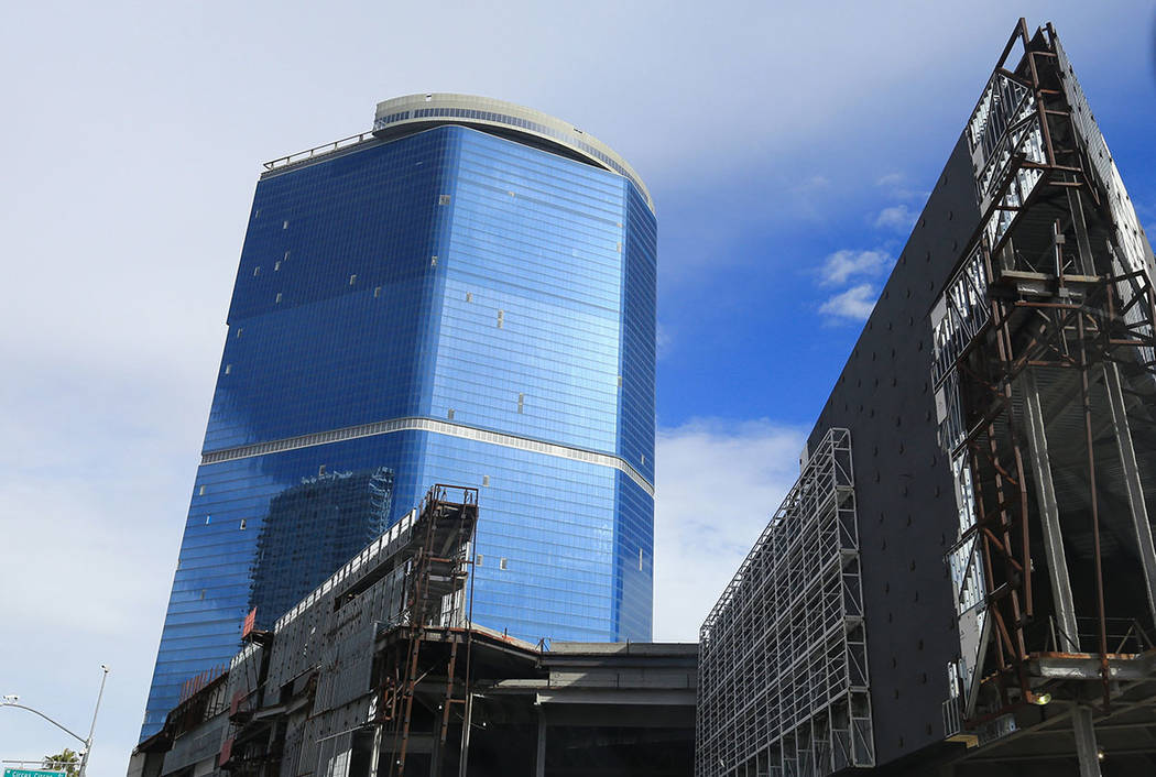 The unfinished Fontainebleau is seen in Las Vegas in 2016. (Las Vegas Review-Journal)