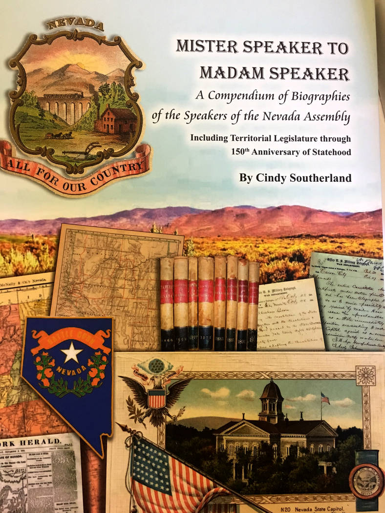 """Mister Speaker to Madam Speaker"" by Carson City author Cindy Southerland. Sean Whaley Las Vegas Review-Journal"