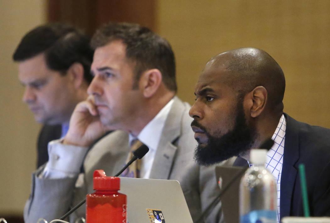 Adam Johnson, right, and Jason Guinasso, Thursday, May 25, 2017, in Las Vegas. Bizuayehu Tesfaye Las Vegas Review-Journal @bizutesfaye
