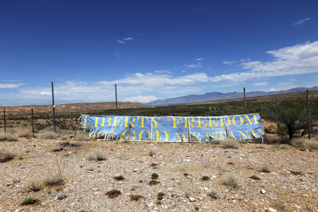 The site where the Bundy stand off occurred near Bunkerville on Sunday, July 30, 2017, near Bunkerville. Interior Secretary Ryan Zinke is in the area to discuss the review of Nevada's Gold Butte a ...