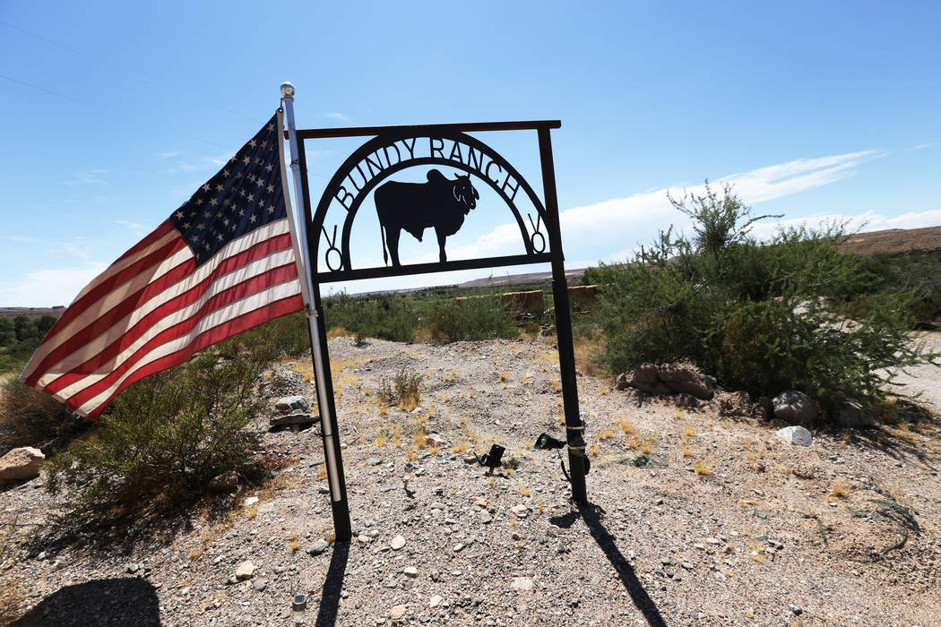 The Bundy Ranch on Sunday, July 30, 2017, near Bunkerville. Interior Secretary Ryan Zinke is in the area to discuss the review of Nevada's Gold Butte and the Basin and Range national monuments.  R ...