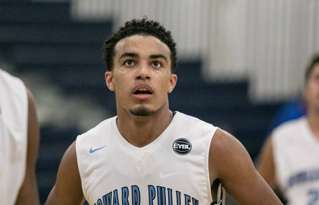 Howard Pulley Panthers point guard Tre Jones during a game against the Houston Hoops at Spring Valley High School on Friday, July 28, 2017, in Las Vegas. Morgan Lieberman Las Vegas Review-Journal
