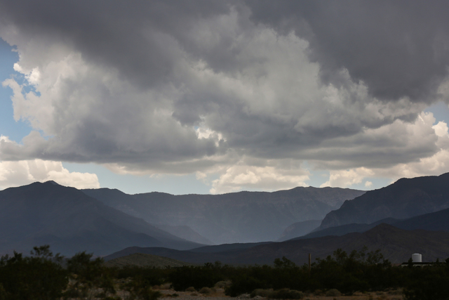 Rain fills Kyle Canyon on Mount Charleston near Las Vegas on Thursday, June 30, 2016. A flood advisory has been issued for Mount Charleston on Sunday, July 30, 2017. (Brett Le Blanc/Las Vegas Revi ...