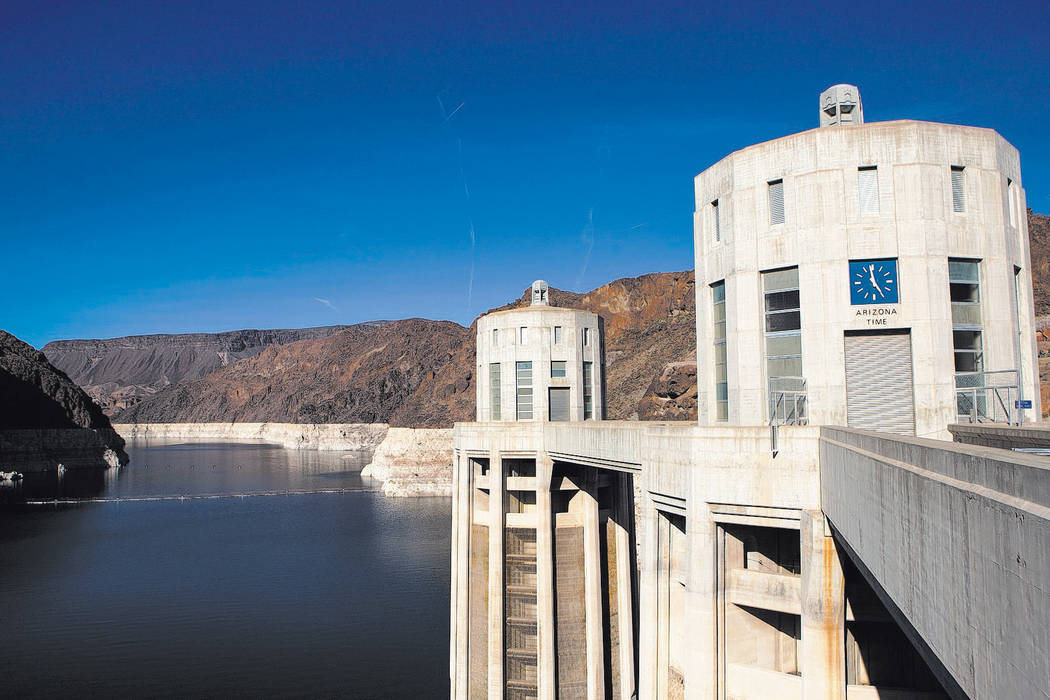 Hoover Dam on Wednesday, May 3, 2017. (Miranda Alam/Las Vegas Review-Journal) @miranda_alam