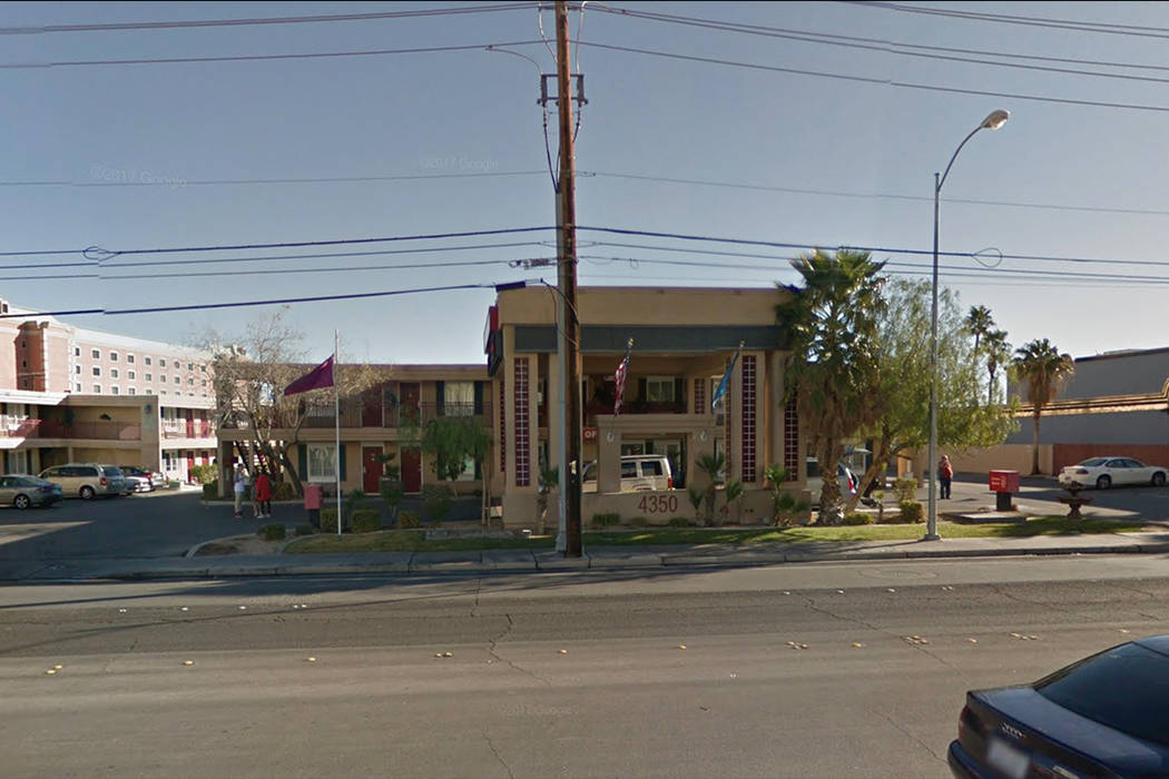 Officers responded about 1:30 p.m. Sunday to reports of a man unconscious in a vehicle at the Red Roof Inn, 4350 Paradise Road, near Harmon Avenue. Google Street View.