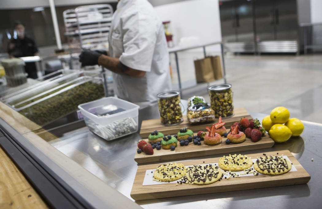 Edible marijuana items are displayed in the kitchen area at Acres Cannabis during the first day of recreational sales in Las Vegas on Saturday, July 1, 2017. Chase Stevens Las Vegas Review-Journal ...
