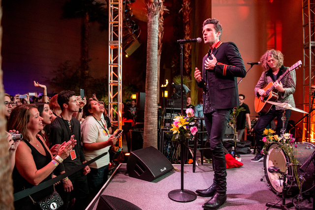 """The Killers perform Friday, Sept. 30, 2016, at Sam's Town Live to celebrate the 10th anniversary of their sophomore album, """"Sam's Town."""" (Courtesy Rob Loud)"""