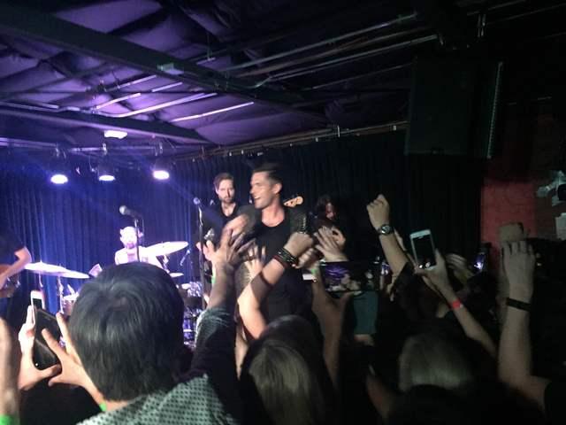 The Killers perform at The Bunkhouse Saloon in Las Vegas on April 7, 2016. (Kristen DeSilva/Las Vegas Review-Journal)