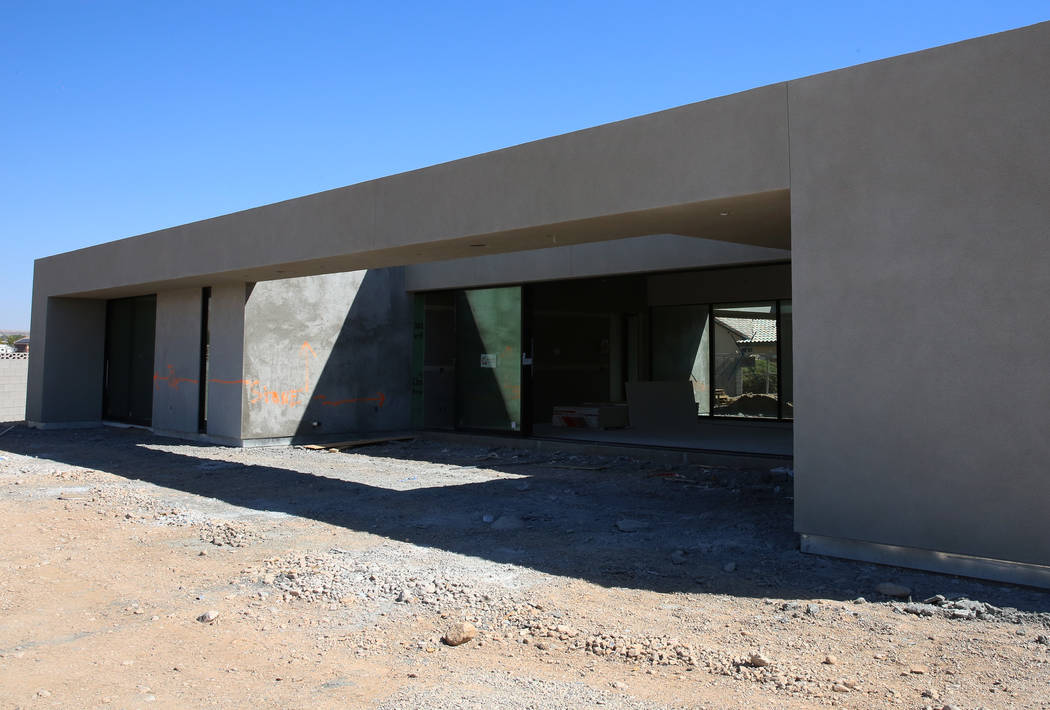An energy efficient home currently under construction for St. Jude at 4135 N. Durango Drive in Las Vegas on Wednesday, July 5, 2017. Bizuayehu Tesfaye Las Vegas Review-Journal @bizutesfaye