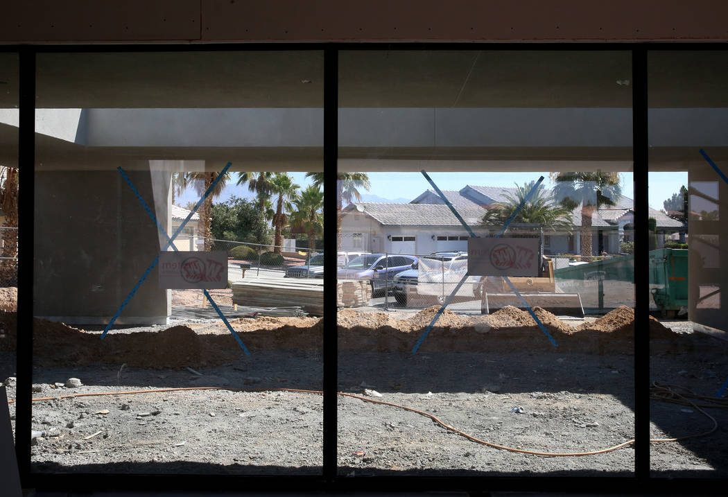 High performance glasses on an energy efficient home currently under construction for St. Jude at 4135 N. Durango Drive in Las Vegas on Wednesday, July 5, 2017. Bizuayehu Tesfaye Las Vegas Review- ...