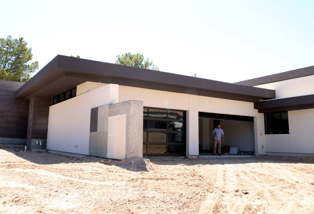 An energy efficient home currently under construction at 27 Burning Tree Court in Las Vegas on Wednesday, July 5, 2017. Bizuayehu Tesfaye Las Vegas Review-Journal @bizutesfaye
