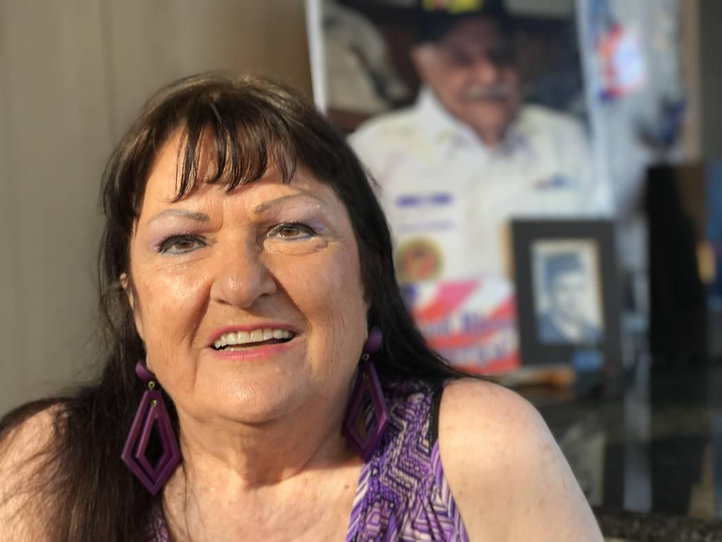Pauline Grandis, widow of Korean War Marine Purple Heart recipient Al Grandis, Tuesday, July 4, 2017, in her home in Las Vegas. (Keith Rogers Las Vegas Review-Journal) @KeithRogers2