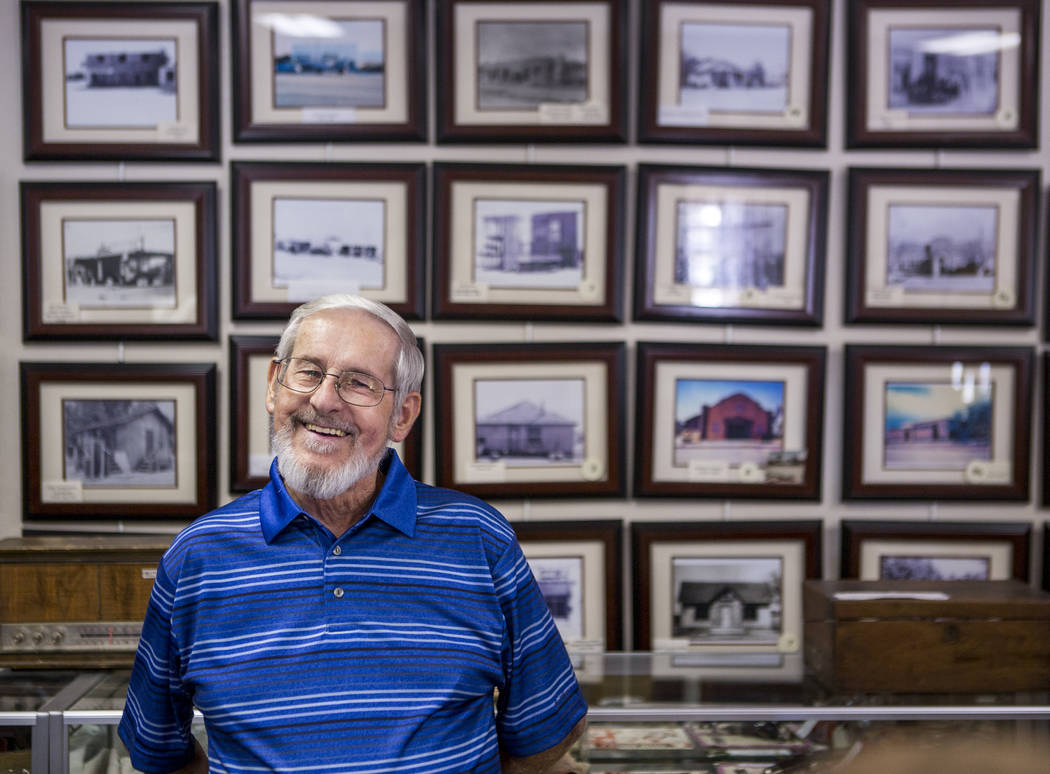 Frank Wright, a volunteer with the Virgin Valley Heritage Museum, in the museum in Mesquite on July 11, 2017. (Patrick Connolly Las Vegas Review-Journal) @PConnPie