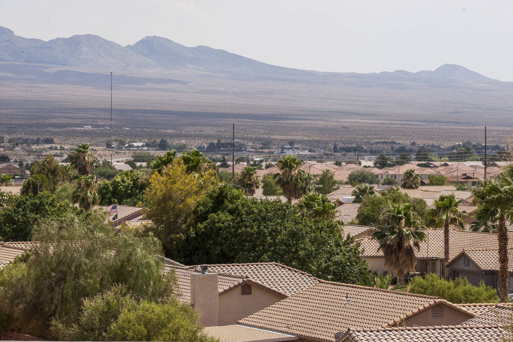 A view of Mesquite from North Grapevine Road, which passes over Interstate 15, on July 11, 2017. (Patrick Connolly Las Vegas Review-Journal) @PConnPie