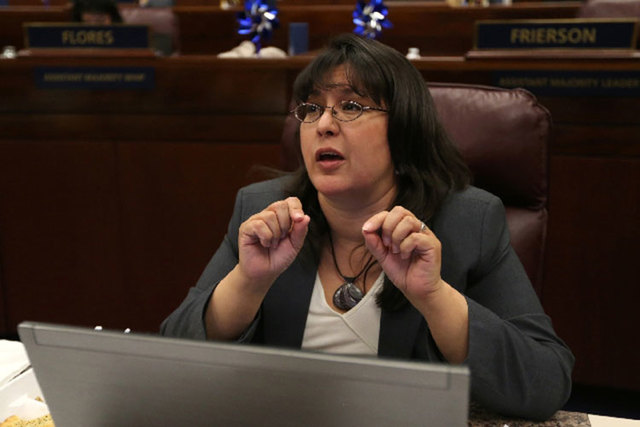 Assemblywoman Irene Bustamante Adams, D-Las Vegas, sponsored AB431, which increased brewing limits for brew pubs in Nevada from 15,000 barrels a year to 40,000. (Las Vegas Review-Journal file)