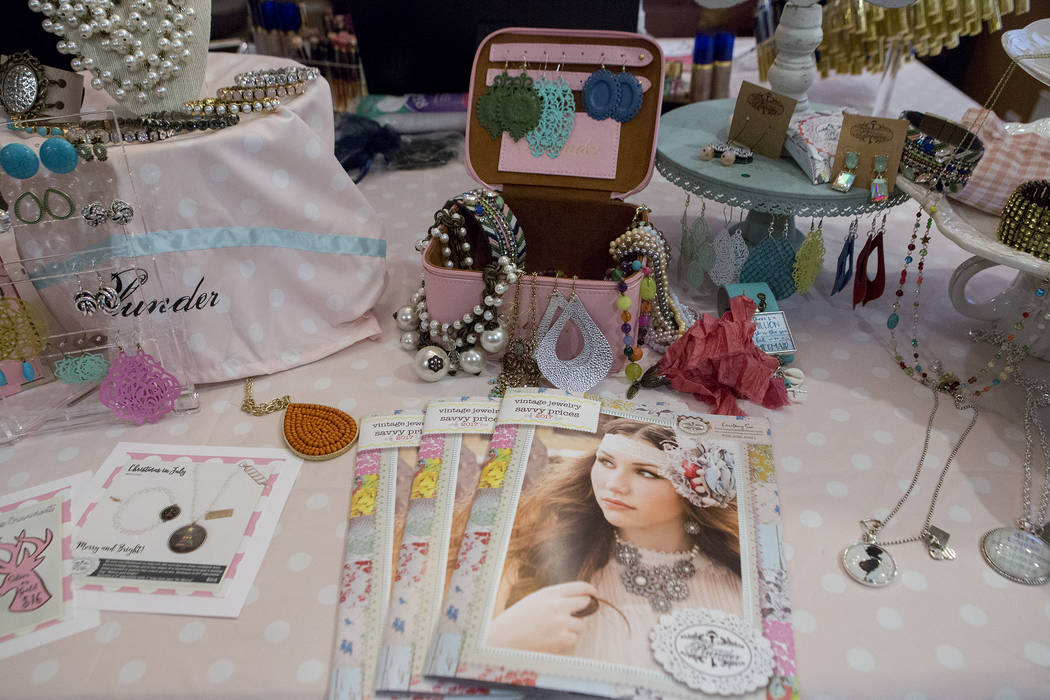 Plunder jewelry is on display during a selling party in Las Vegas on Thursday, July 20, 2017.  Bridget Bennett Las Vegas Review-Journal @bridgetkbennett