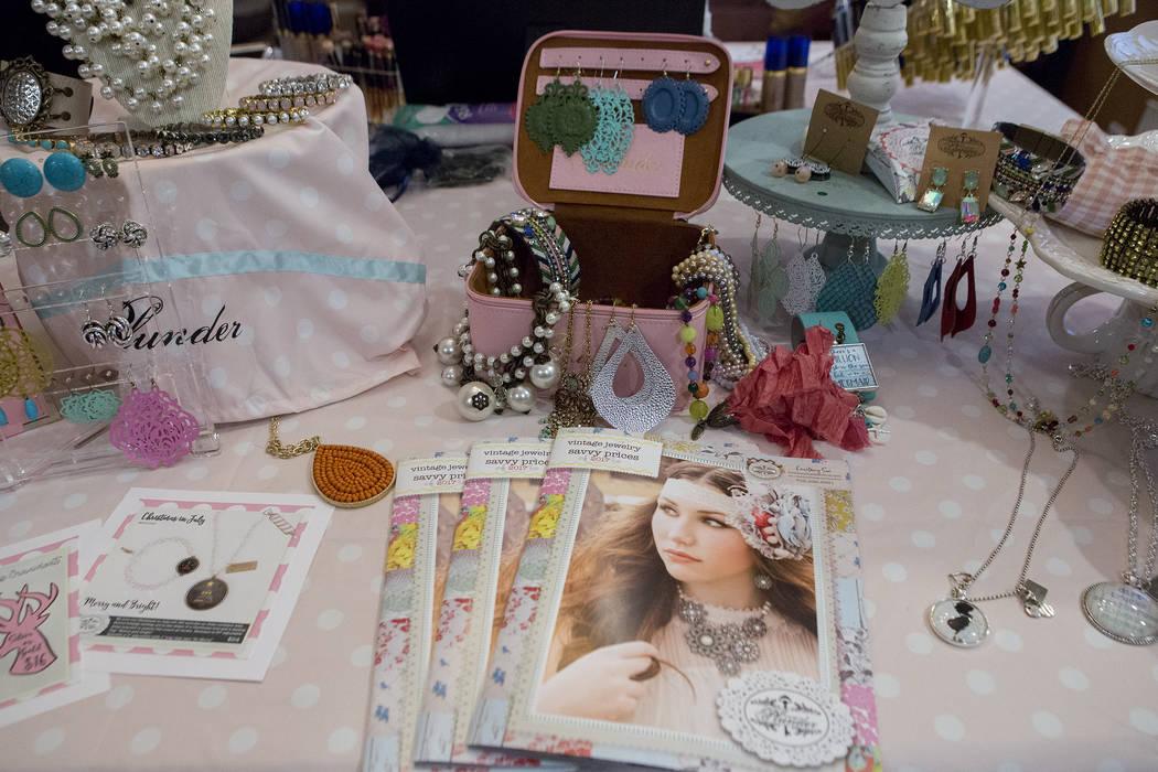 Plunder jewelry is on display during a selling party in Las Vegas on Thursday, July 20, 2017.  Bridget Bennett Las Vegas Review-Journal @bridgetkbennett