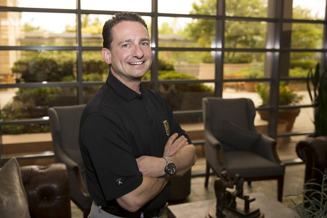 Rick Braunstein, director of team services for the Vegas Golden Knights, at the team's headquarters in Las Vegas, on Thursday, July 20, 2017. Erik Verduzco Las Vegas Review-Journal @Erik_Verduzco