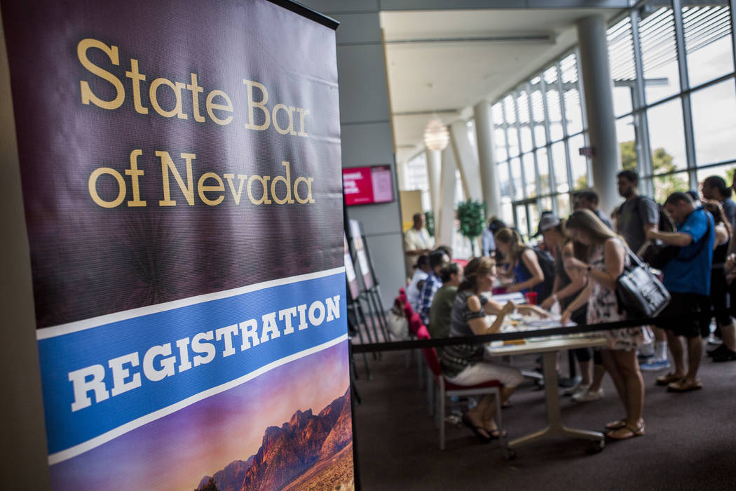 People Register For The Nevada Bar Exam In The Student Union At UNLV On  Monday,