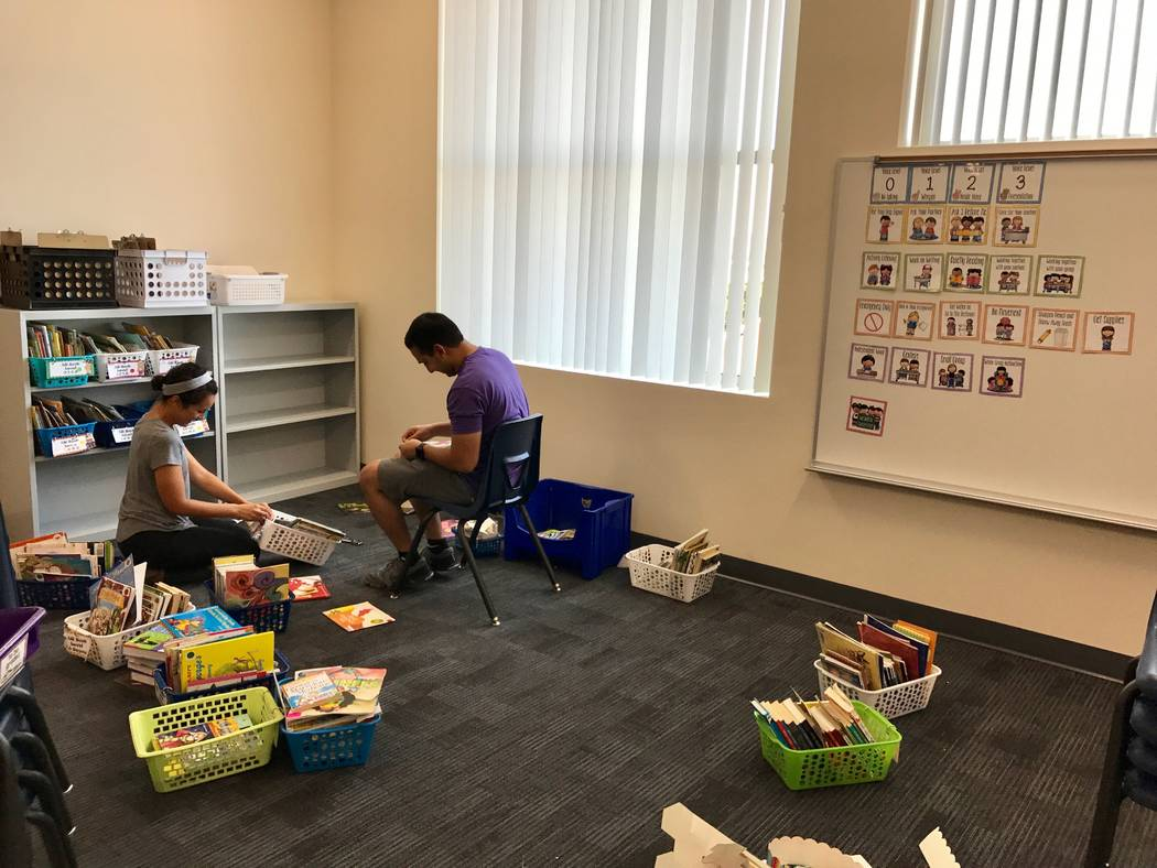 Beverly S. Mathis Elementary School teachers spent the weeks leading up to the new school year organizing and decorating their classrooms with new furniture and materials. (Madelyn Reese/View) @Ma ...