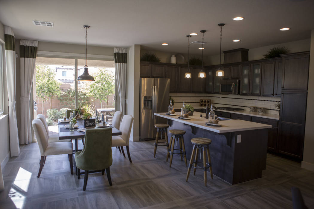A model kitchen in a Century Communities home in southwest Las Vegas on Wednesday, Aug. 9, 2017.  Patrick Connolly Las Vegas Review-Journal @PConnPie