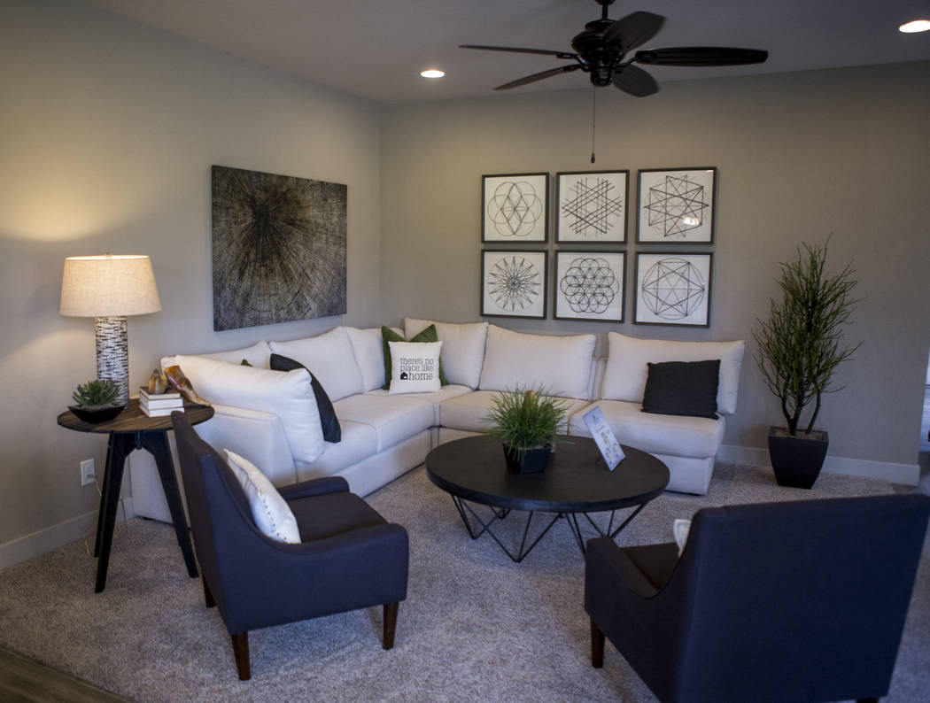 A model living room in a Century Communities home in southwest Las Vegas on Wednesday, Aug. 9, 2017.  Patrick Connolly Las Vegas Review-Journal @PConnPie