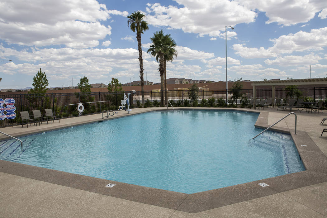 The pool at Century Communities in southwest Las Vegas on Wednesday, Aug. 9, 2017.  Patrick Connolly Las Vegas Review-Journal @PConnPie