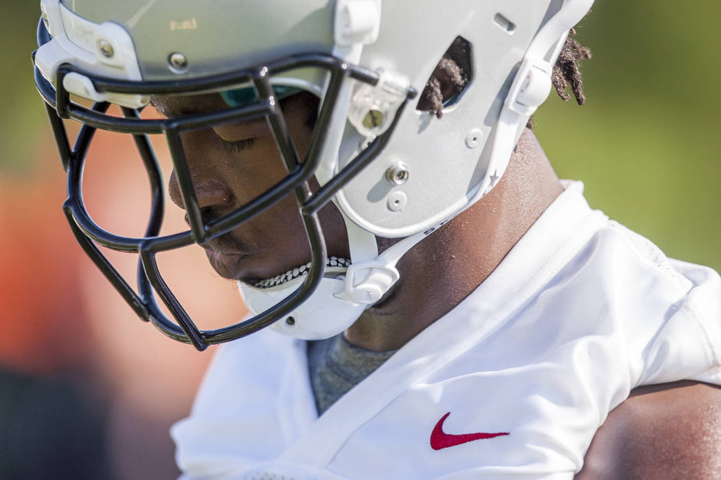 UNLV wide receiver Kendal Keys during the first day of training camp at Rebel Park on Wednesday, August 2, 2017.  Patrick Connolly Las Vegas Review-Journal @PConnPie