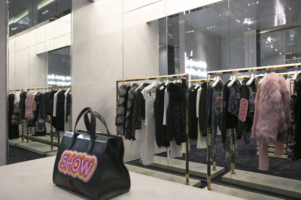 The main women's collection at the Philipp Plein flagship store in The Shops at Crystals in Las Vegas, Thursday, July 27, 2017. Gabriella Angotti-Jones Las Vegas Review-Journal @gabriellaangojo