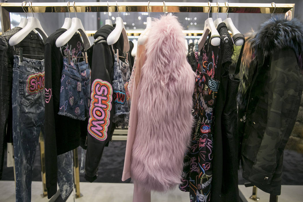 The women's main collection at the Philipp Plein flagship store in The Shops at Crystals in Las Vegas, Thursday, July 27, 2017. Gabriella Angotti-Jones Las Vegas Review-Journal @gabriellaangojo
