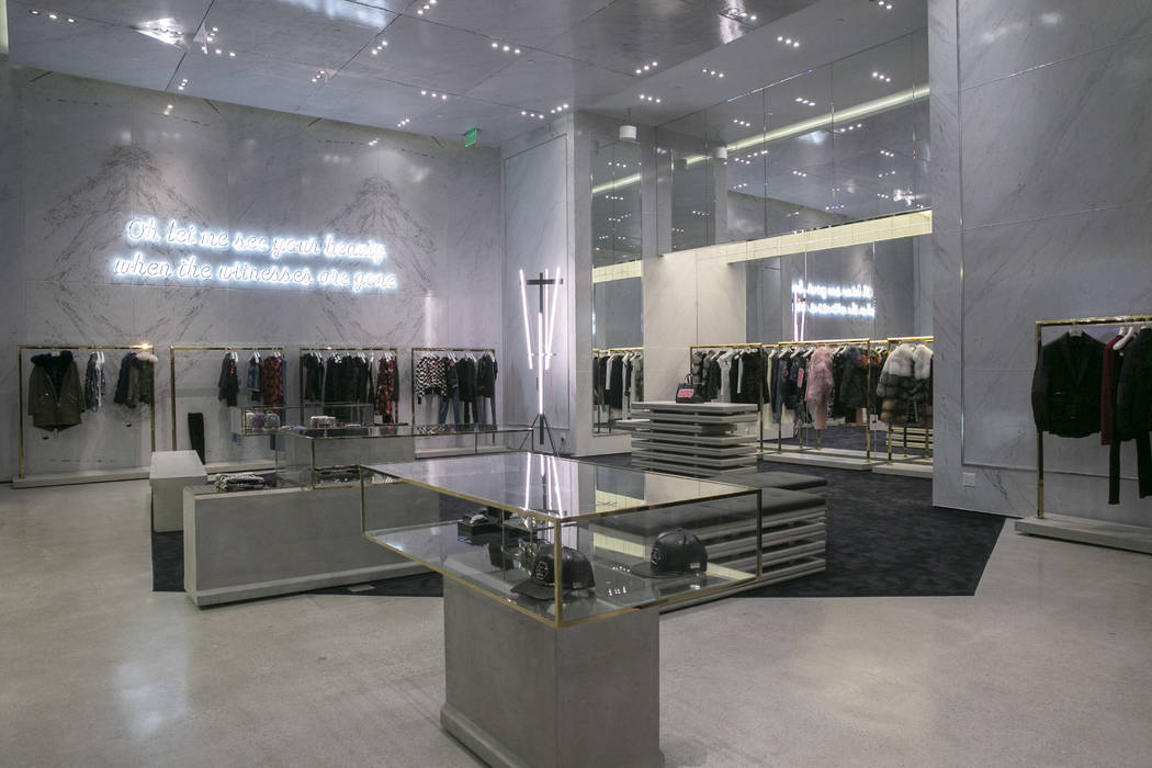 The main collection at the Philipp Plein flagship store in The Shops at Crystals in Las Vegas, Thursday, July 27, 2017. Gabriella Angotti-Jones Las Vegas Review-Journal @gabriellaangojo